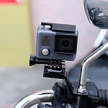 Металлическое крепление для GoPro на мотоцикл, фото 3