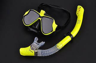Комплект маска для дайвинга с креплением для GoPro + Трубка для плавания
