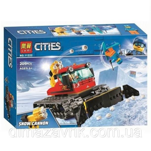 """Конструктор Bela 11222 (Аналог Lego City 60222) """"Снегоуборочная машина""""209 деталей"""