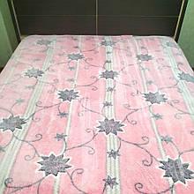 Плед снежок из микрофибры 200*230 розовый