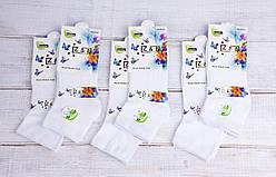 Женские носки короткие носки стрейчевые Z & N бамбук антибактериальные однотонные 35-40 12 шт в уп белые