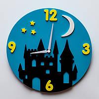 """Детские настенные часы """"Замок"""""""