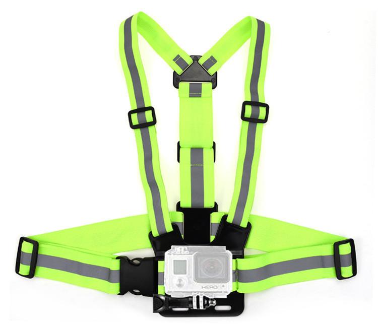 Крепление на грудь для GoPro с отражающими флуросцентными полосками