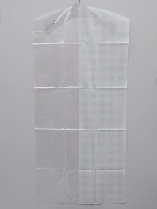 Набор чехлов для хранения одежды флизелиновый. В упаковке 3 штуки, размер 60*130 см., фото 2