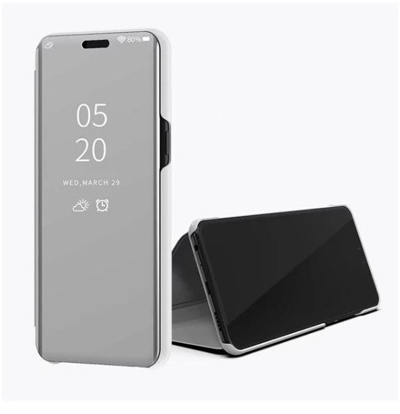Чехол-книжка Mirror для Huawei Y6 2019 Зеркальная Серебро