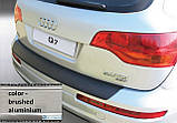 Пластиковая защитная накладка на задний бампер для Audi Q7 2006-2015, фото 2