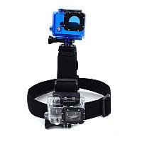 Двойное крепление на голову, Head Strap Double, для крепления двух камер для GoPro, фото 1