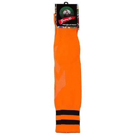 Гетры взрослые 39-45, терилен, махровый носок, оранжевый F529RG, фото 2