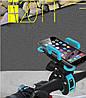 Держатель для GoPro на руль велосипеда, с диаметром трубы до 4,5 см. Синий