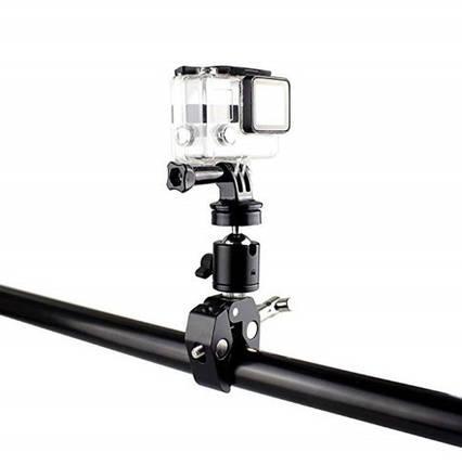 Металлическое крепление на руль или трубу для GoPro с диаметром трубы до  5,5 см. , фото 2