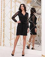 Нарядное платье от YuLiYa Chumachenko трикотажное с запахом (3 цвета, р.42-48)
