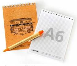 Блокноты А6 на пружине, корпоративные