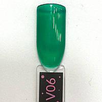 Гель лак Kira Nails VitrageV06 (зеленый зеленка), 6 мл