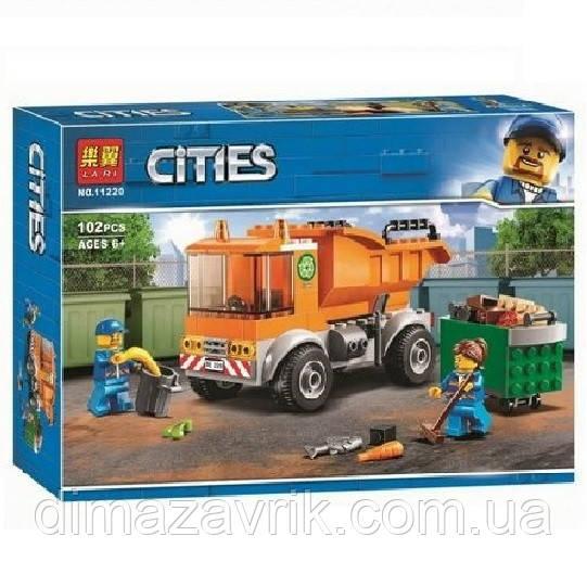 """Конструктор Bela 11220 (Аналог Lego City 60220) """"Мусоровоз""""102 детали"""