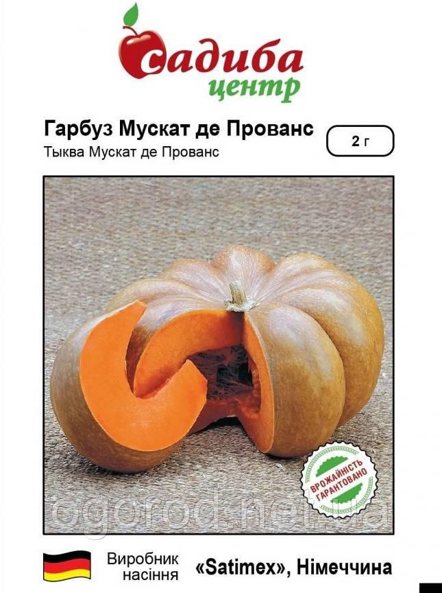 Мускат де Прованс насіння гарбуза Satimex Німеччина 2 грами