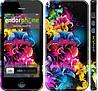 """Чехол на iPhone 5 Абстрактные цветы """"511c-18"""""""