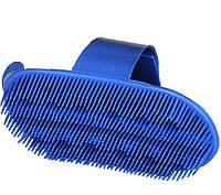 Щетка пластиковая для ухода за лошадьми, синяя KERBL (Германия)