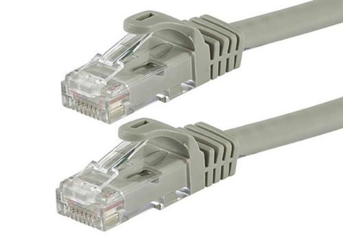 Патч-корд 10 м, UTP, Grey, Ritar, литой, RJ45, кат.5е, витая пара, сетевой кабель для интернета, фото 2