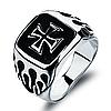 """Мужское кольцо с крестом """"Монарх"""""""
