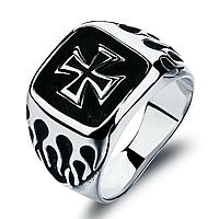 """Мужское кольцо с крестом """"Монарх"""", в наличии 19.0"""