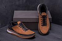 Мужские кожаные кроссовки E-Classic brown (реплика)