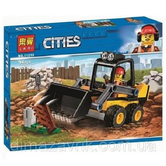 """Конструктор Bela 11219 (Аналог Lego City 60219) """"Строительный погрузчик""""94 деталей"""