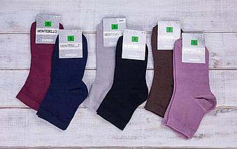 Носки жіночі Montebellо шкарпетки стрейчеві однотонні 35-40 12 шт в уп мікс 7 кольорів