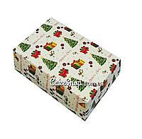 Коробка на 6 кексов, маффинов, капкейков принт Елка