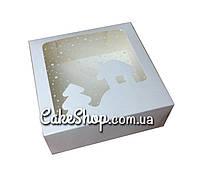 Коробка новогодняя Домик, 15*15*3 см