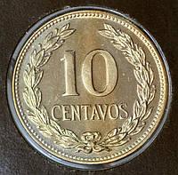 Монета Сальвадора 10 сентаво 1977 г.