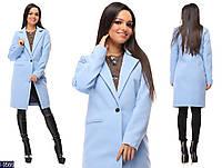 Модное весеннее кашемировое пальто на подкладке арт 0092