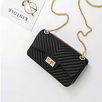 Мини сумка клатч женская модная черная