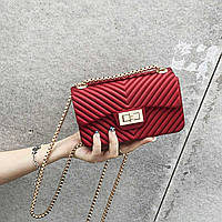 Мини сумка клатч женская модная красная