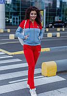 Спортивный костюм женский Батальный Красный