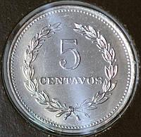 Монета Сальвадора 5 сентаво 1984 г.