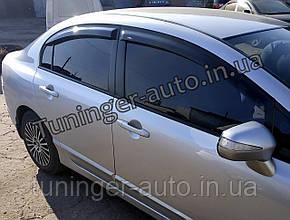 Ветровики, дефлекторы окон Honda Civic 4D 2006-2011 (HIC)