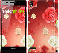 """Чохол на Huawei Ascend P6 Дощ з троянд """"1873c-39"""""""