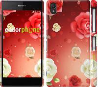 """Чехол на Sony Xperia Z2 D6502/D6503 Дождь из роз """"1873c-43"""""""