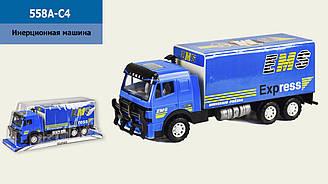 Фургон інерційний 558A-C4 (650859) (24шт/2) розмір іграшки - 38*11,5*15 см, під слюдою 43*14*17,5 см