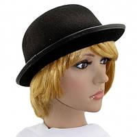 Шляпа Котелок фетровый (черный)