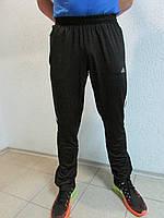 Мужские спортивные брюки Adidas черный с белым  36Б