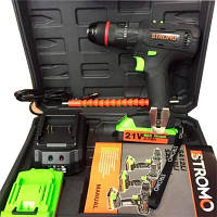 Шуруповерт аккумуляторный STROMO SA 214LI Extra (ударный с гибкий валом)