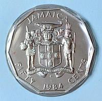 Монета Ямайки 50 центов 1984 г. Маркус Гарви