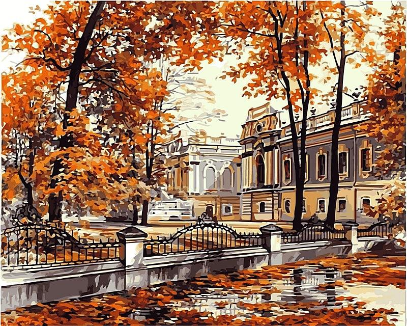 Набор-раскраска по номерам Мариинский дворец худ Брандт, Сергей