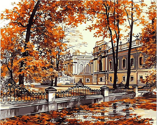 Набор-раскраска по номерам Мариинский дворец худ Брандт, Сергей, фото 2