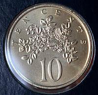 Монета Ямайки 10 центов 1975 г.
