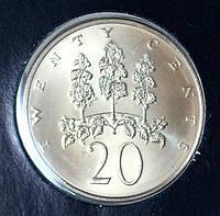 Монета Ямайки 20 центов 1976 г.