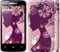 """Чехол на Lenovo A820 Силуэт девушки """"2831c-68"""""""
