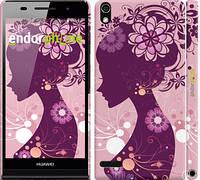 "Чехол на Huawei Ascend P6 Силуэт девушки ""2831c-39"""
