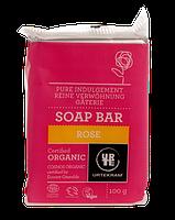 Органическое твердое мыло Urtekram, Роза, 100 гр